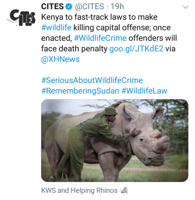 CITES tweet